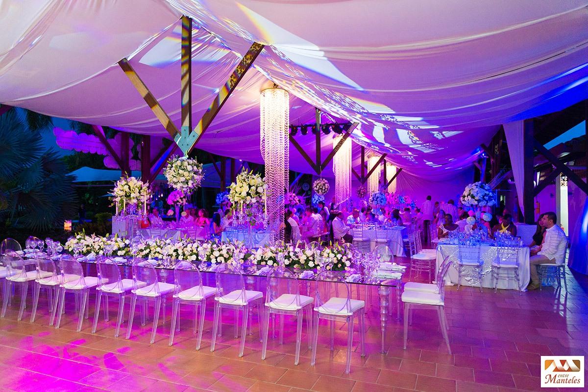 Boda de cristalina bodas en cali decoraci n de bodas Arreglos para boda en salon
